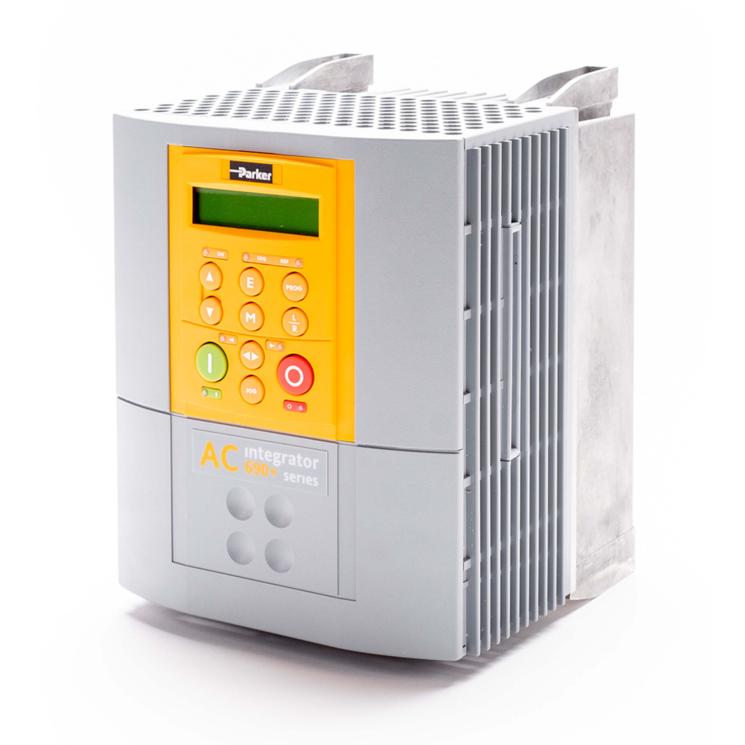 690 Series - 3PH, 400/460V - 4kW, Frame B - Universal Auxiliary - Brake Switch Fitted - Filter Fitted - No System Board - Panel Mount - No Special Options - English (50Hz) - 6901 Keypad - No Speed Feedback - No Comms